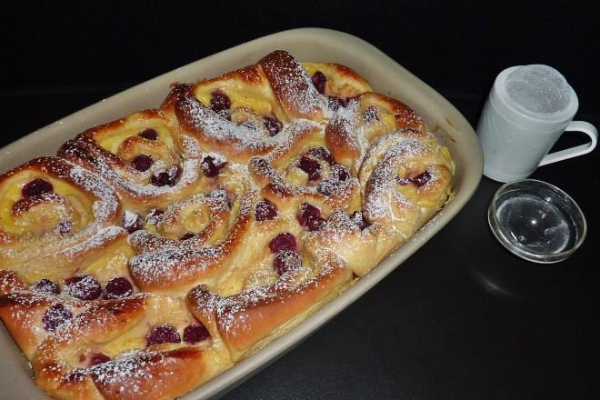 Puddingschnecken Mit Kirschen Backen Mit Leidenschaft