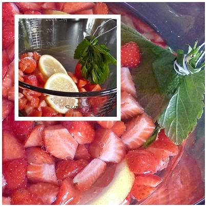 Erdbeer-Mai-Bowle
