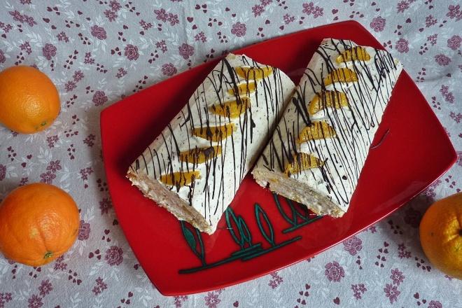 Orangen Ricotta Bisquitrolle Mit Marzipan Und Schokolade So Herrlich