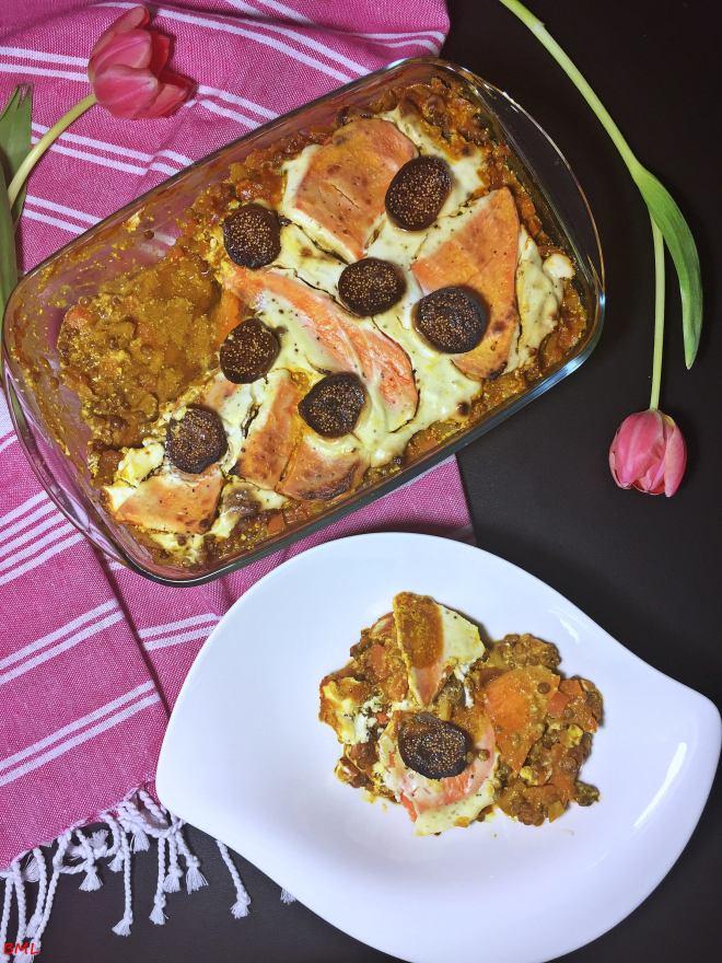 Süsskartoffel-Linsen-Lasagne (5)