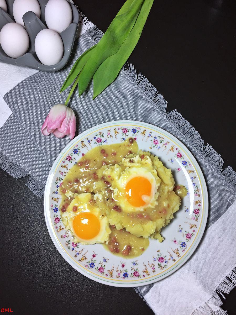 Süss-Saure Eier mit Stampfkartoffeln...Ein Lieblingsessen aus meiner Kindheit
