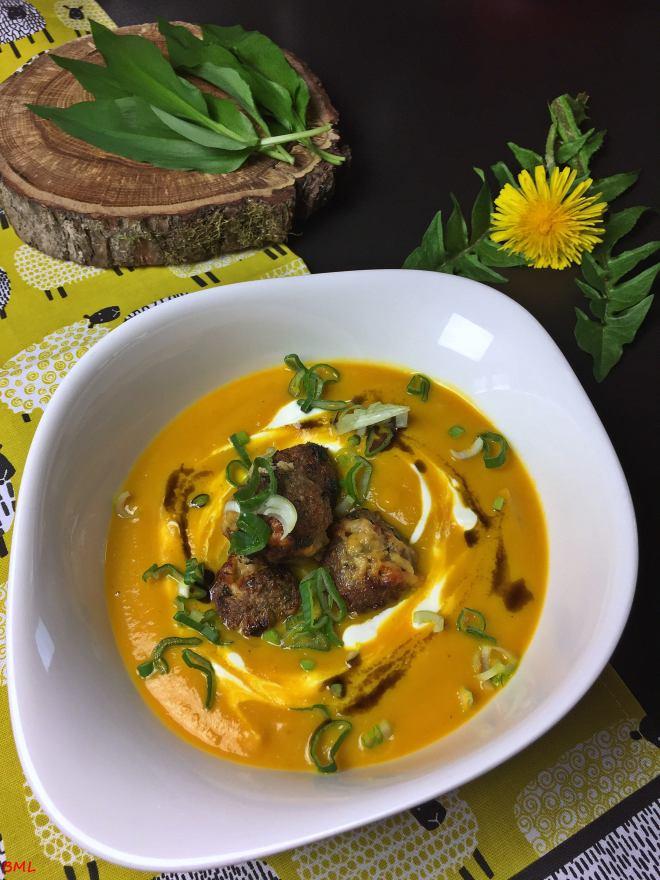 Karottensuppe mit Bärlauchfrikadellen (18)