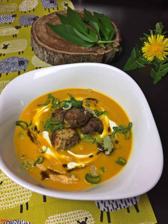 Karottensuppe mit Bärlauchfrikadellen (20)