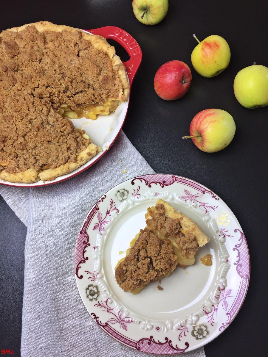 Apple-Crumble-Pie…Apfel-Streusel-Pie, ein Kuchen, der glücklich macht