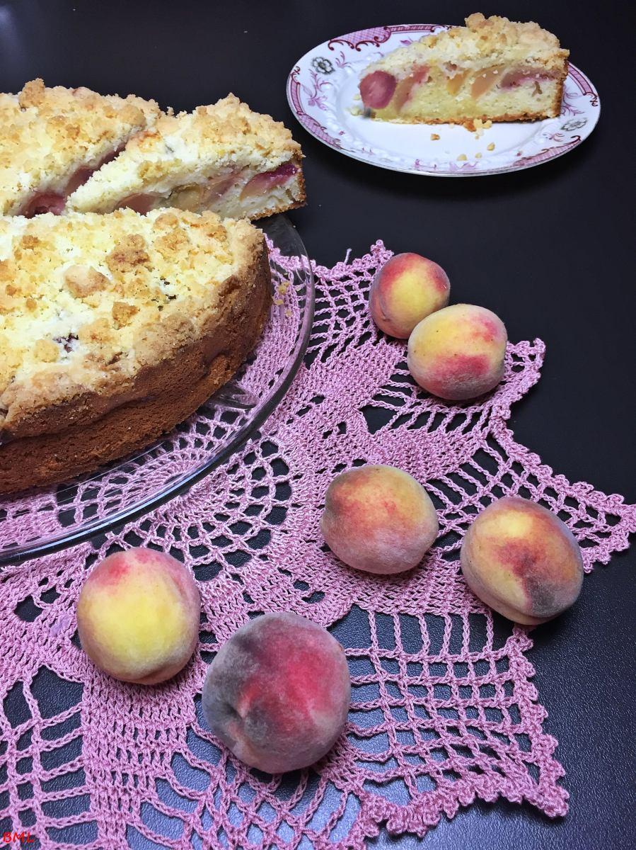 Streuselkuchen mit Pfirsichen...einfach und lecker
