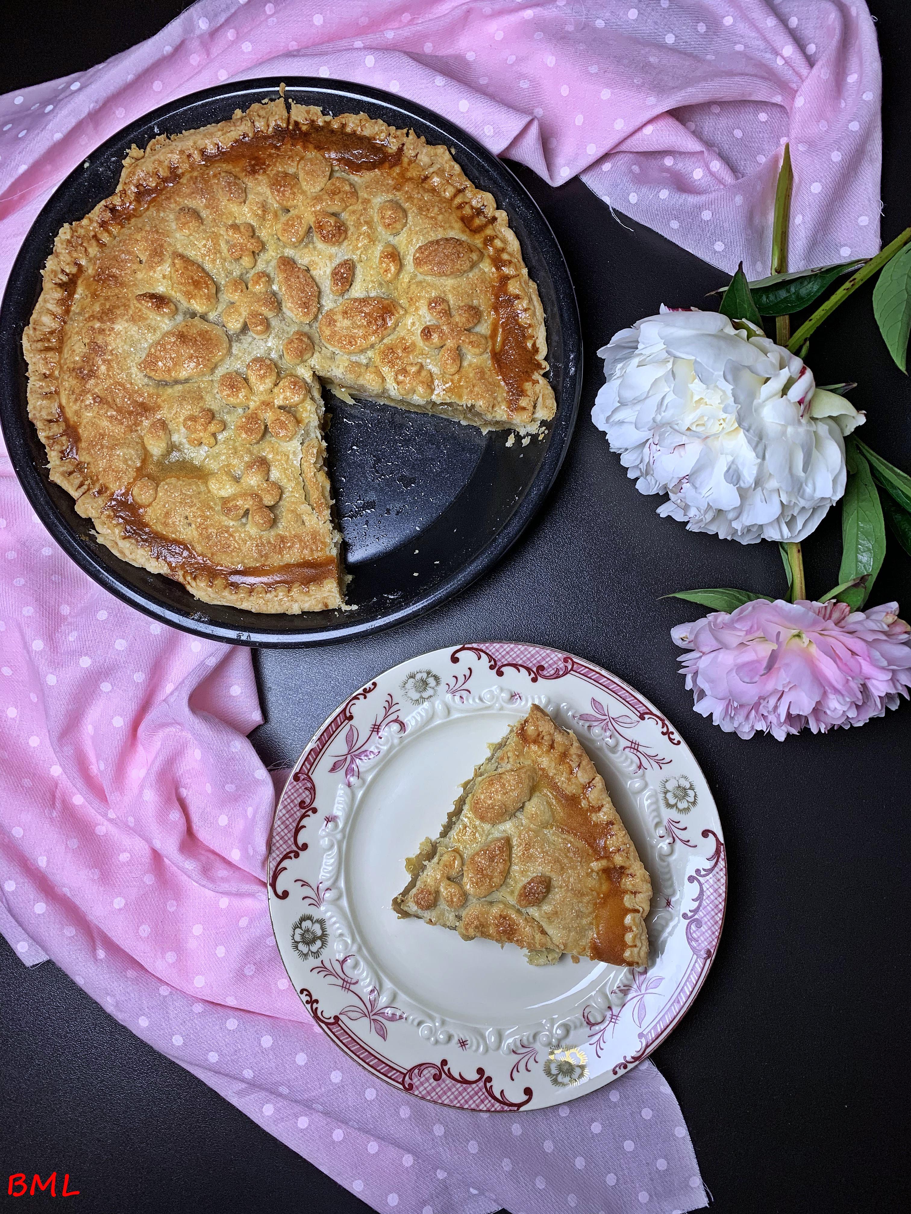 Rhabarber-Pie….gedeckter Rhabarberkuchen