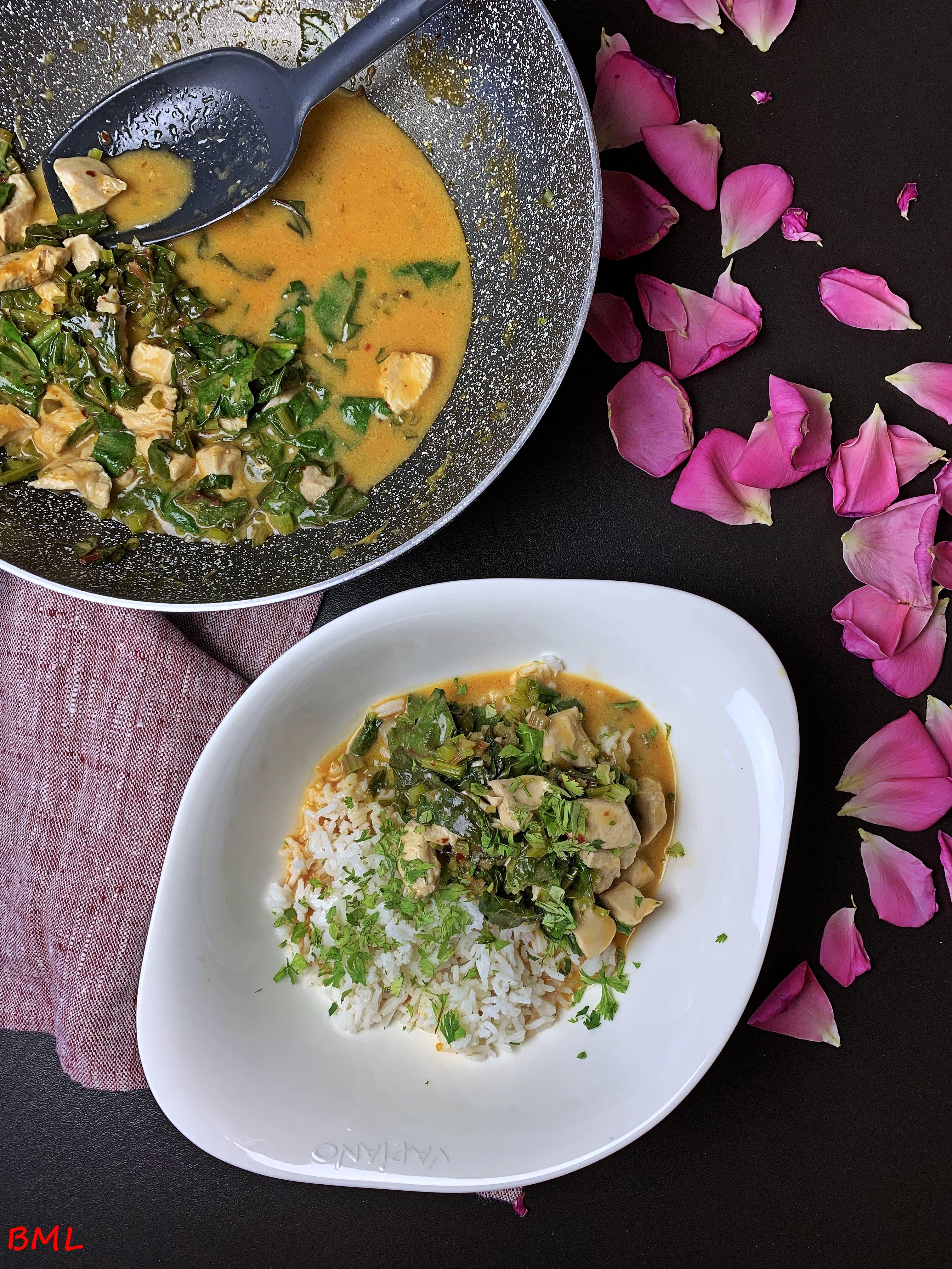 Rotes Curry mit Hähnchen und Mangold…einfach und lecker