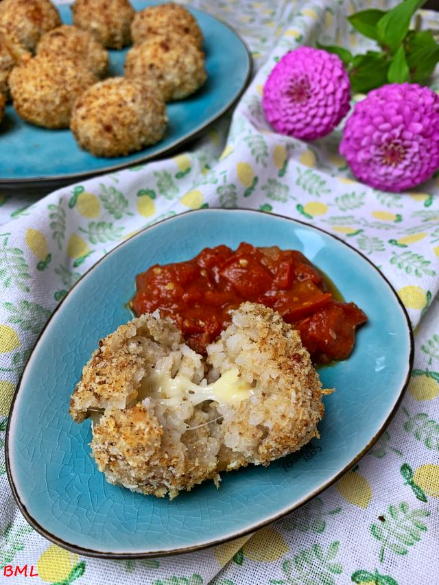 Arancini mit Tomatensauce…aus dem Airfryer