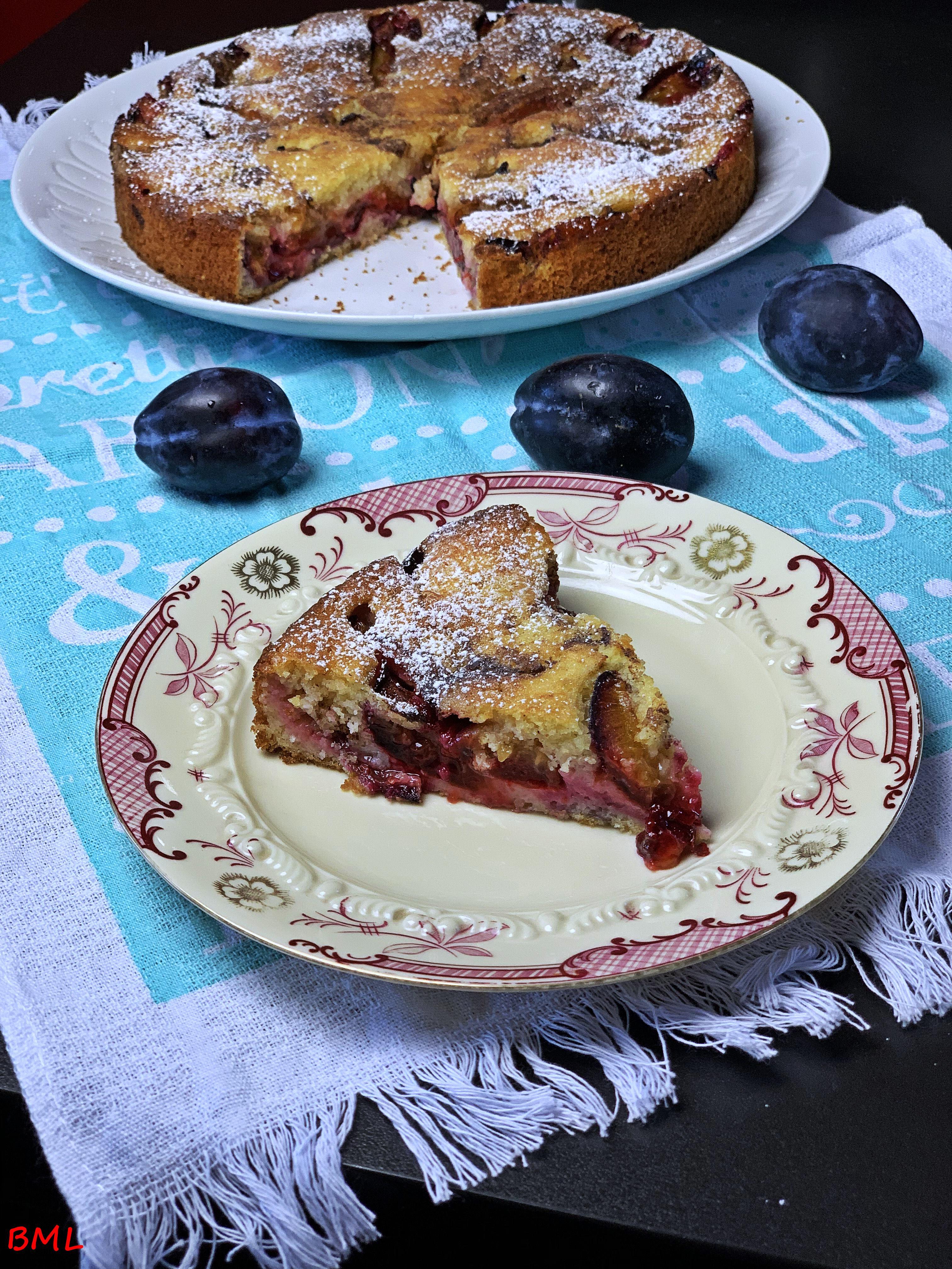 Zwetschgen- Buttermilch- Zimtkuchen
