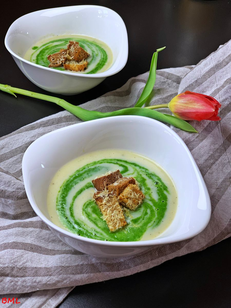 Fenchel-Spinat-Suppe mit Parmesan-Croutons…Samtige Fenchelsuppe nach Jamie Oliver