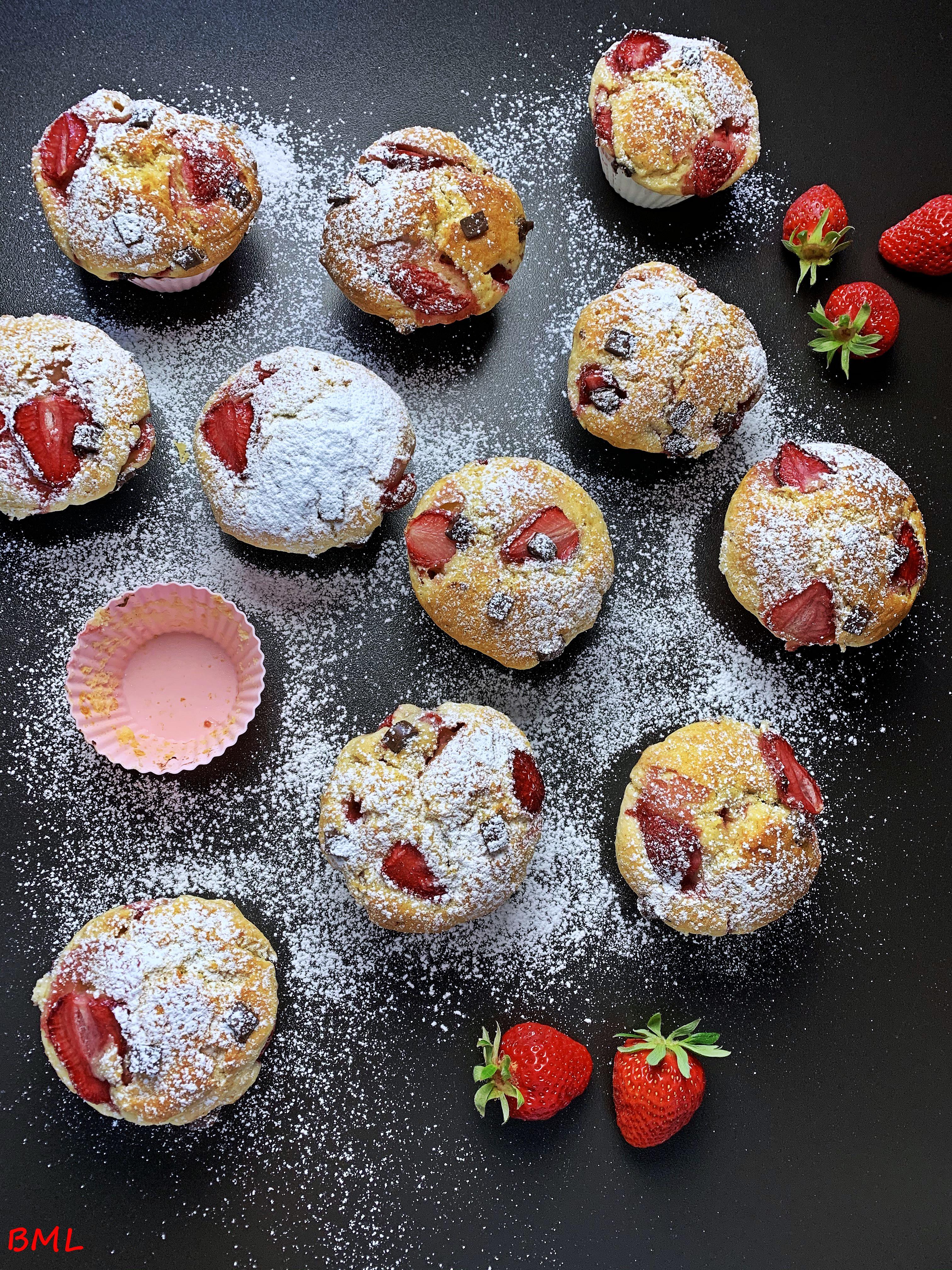 Frischkäse-Muffins mit Erdbeeren…locker, fruchtig und lecker