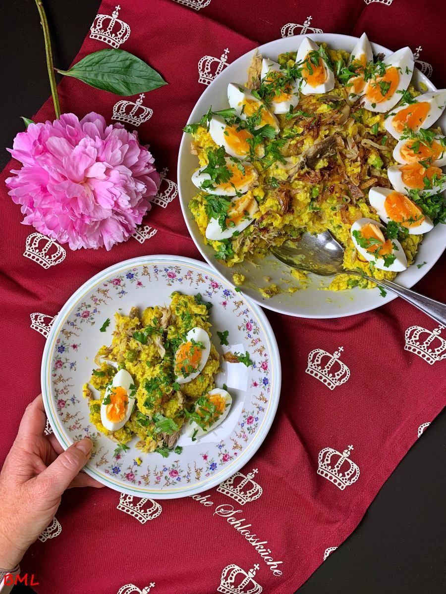 Kedgeree…traditionelles, englisches Frühstück