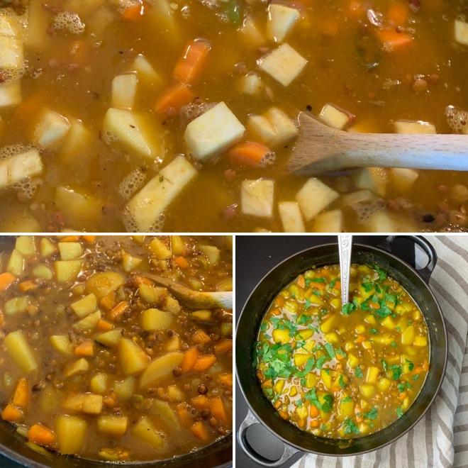 Kartoffel-Linsen-Curry